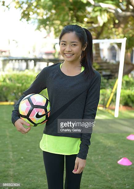 Actress Ashley Liao attends Nike Young Athletes Swoosh Saturday Featuring The Cast Of Amazon Original Series The Kicks at Nike The Grove to celebrate...