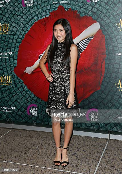 Actress Ashley Liao attends the opening night of Amelie A New Musical at Ahmanson Theatre on December 16 2016 in Los Angeles California