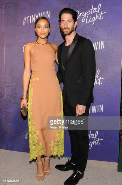 Actress Ashley Madekwe and Iddo Goldberg attend Variety and Women in Film Emmy Nominee Celebration powered by Samsung Galaxy on August 23 2014 in...