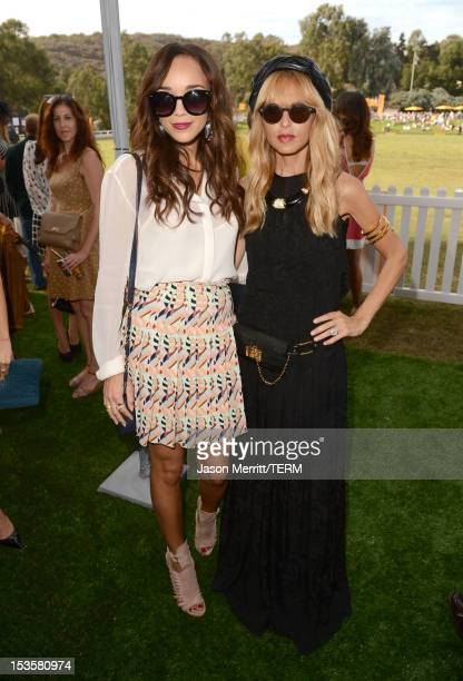 Actress Ashley Madekwe and stylist Rachel Zoe attend the Third Annual Veuve Clicquot Polo Classic at Will Rogers State Historic Park on October 6...