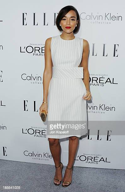 Actress Ashley Madekwe arrives at ELLE Celebrates 20th Annual Women In Hollywood Event at Four Seasons Hotel Los Angeles at Beverly Hills on October...