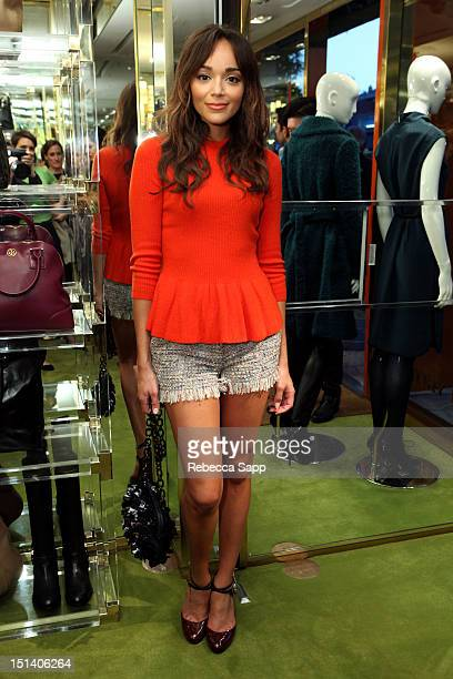 Actress Ashley Madekwe arrives at Fashion's Night Out At Tory Burch at Tory Burch on September 6 2012 in Los Angeles California