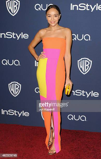 Actress Ashley Madekwe arrives at the 2014 InStyle And Warner Bros 71st Annual Golden Globe Awards PostParty on January 12 2014 in Beverly Hills...