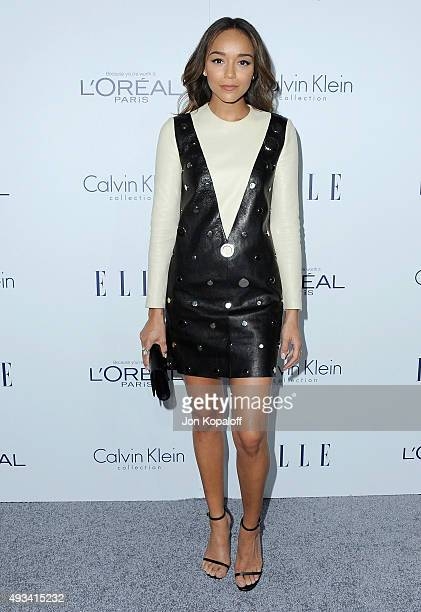 Actress Ashley Madekwe arrives at the 22nd Annual ELLE Women In Hollywood Awards at Four Seasons Hotel Los Angeles at Beverly Hills on October 19...