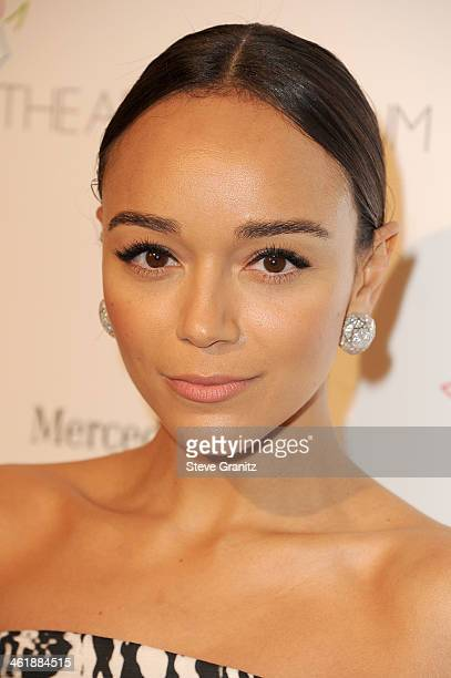Actress Ashley Madekwe arrives at The Art of Elysium's 7th Annual HEAVEN Gala presented by MercedesBenz at Skirball Cultural Center on January 11...