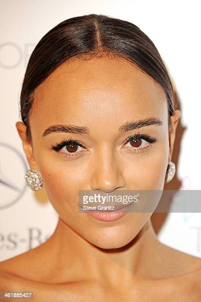 Actress Ashley Madekwe arrives at The Art of Elysium's 7th Annual HEAVEN Gala presented by Mercedes-Benz at Skirball Cultural Center on January 11,...