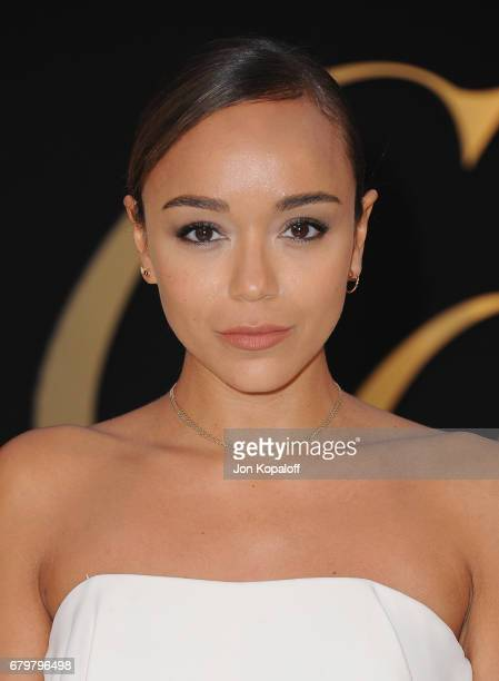 Actress Ashley Madekwe arrives at the Panthere De Cartier Party In LA at Milk Studios on May 5 2017 in Los Angeles California