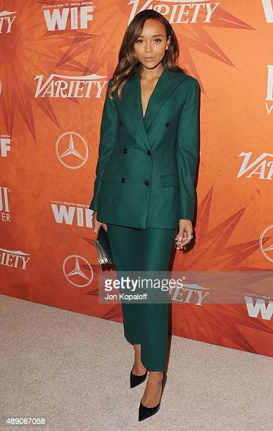 Actress Ashley Madekwe arrives at the Variety And Women In Film Annual Pre-Emmy Celebration at Gracias Madre on September 18, 2015 in West Hollywood,...