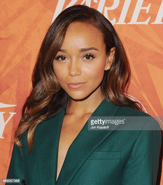 Actress Ashley Madekwe arrives at the Variety And Women In Film Annual PreEmmy Celebration at Gracias Madre on September 18 2015 in West Hollywood...