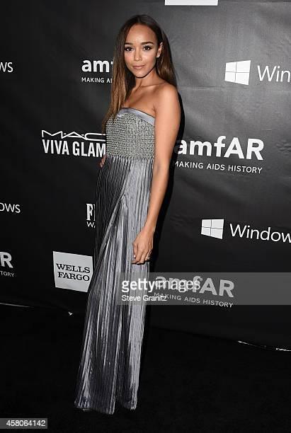 Actress Ashley Madekwe attends amfAR LA Inspiration Gala honoring Tom Ford at Milk Studios on October 29 2014 in Hollywood California