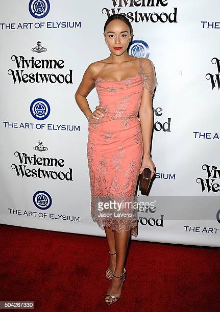 Actress Ashley Madekwe attends Art of Elysium's 9th annual Heaven Gala at 3LABS on January 9 2016 in Culver City California