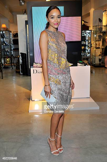 Actress Ashley Madekwe attends Dior and Maxfield Celebrate the Launch of Winter 2014 Dior Fusion Sneaker Collection with a Cocktail Party at Maxfield...