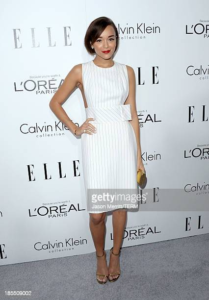 Actress Ashley Madekwe attends ELLE's 20th Annual Women In Hollywood Celebration at Four Seasons Hotel Los Angeles at Beverly Hills on October 21...