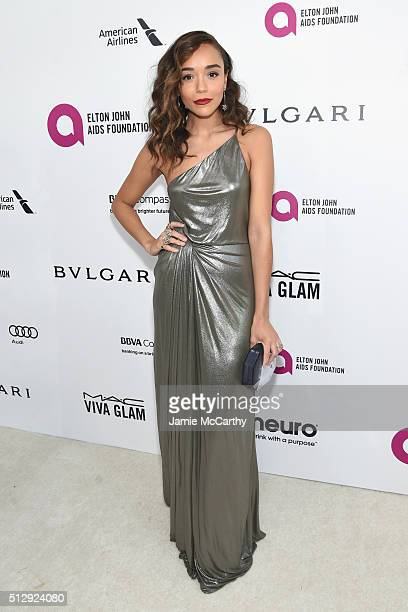 Actress Ashley Madekwe attends the 24th Annual Elton John AIDS Foundation's Oscar Viewing Party at The City of West Hollywood Park on February 28...