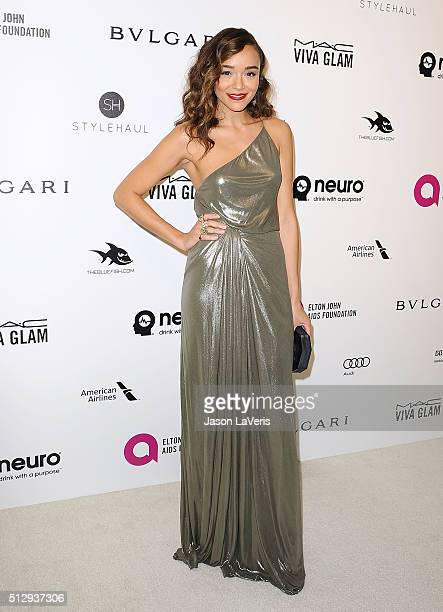 Actress Ashley Madekwe attends the 24th annual Elton John AIDS Foundation's Oscar viewing party on February 28 2016 in West Hollywood California