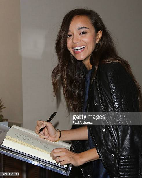 Actress Ashley Madekwe attends the 4th annual production of the 24 Hour Plays In Los Angeles to benefit Urban Arts Partnership at The Shore Hotel on...