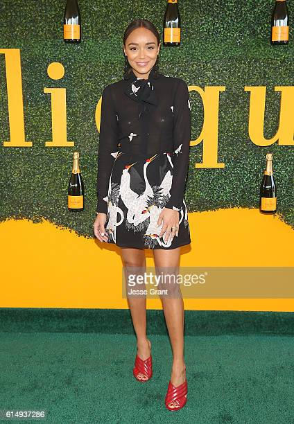 Actress Ashley Madekwe attends the 7th Annual Veuve Clicquot Polo Classic at Will Rogers State Historic Park on October 15 2016 in Pacific Palisades...