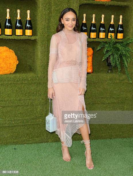 Actress Ashley Madekwe attends the 8th annual Veuve Clicquot Polo Classic at Will Rogers State Historic Park on October 14 2017 in Pacific Palisades...