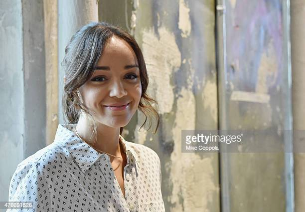 Actress Ashley Madekwe attends the AOL BUILD Speaker Series Ashley Madekwe Discusses 'Salem' Season 2 at AOL Studios In New York on June 11 2015 in...