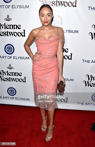 Actress Ashley Madekwe attends The Art of Elysium 2016 HEAVEN Gala presented by Vivienne Westwood Andreas Kronthaler at 3LABS on January 9 2016 in...
