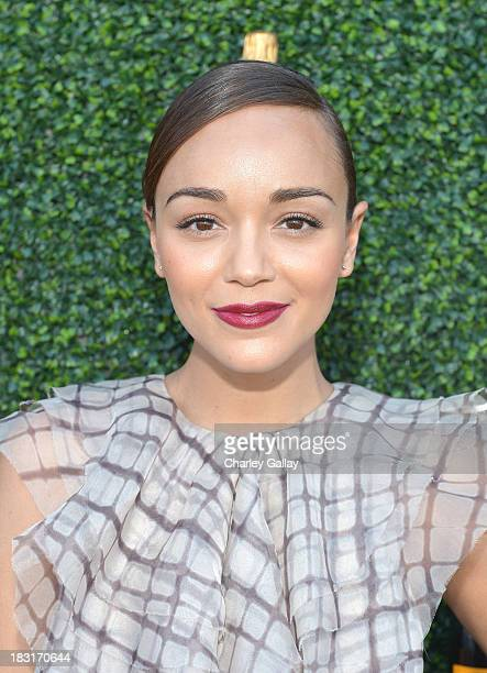 Actress Ashley Madekwe attends The FourthAnnual Veuve Clicquot Polo Classic Los Angeles at Will Rogers State Historic Park on October 5 2013 in...