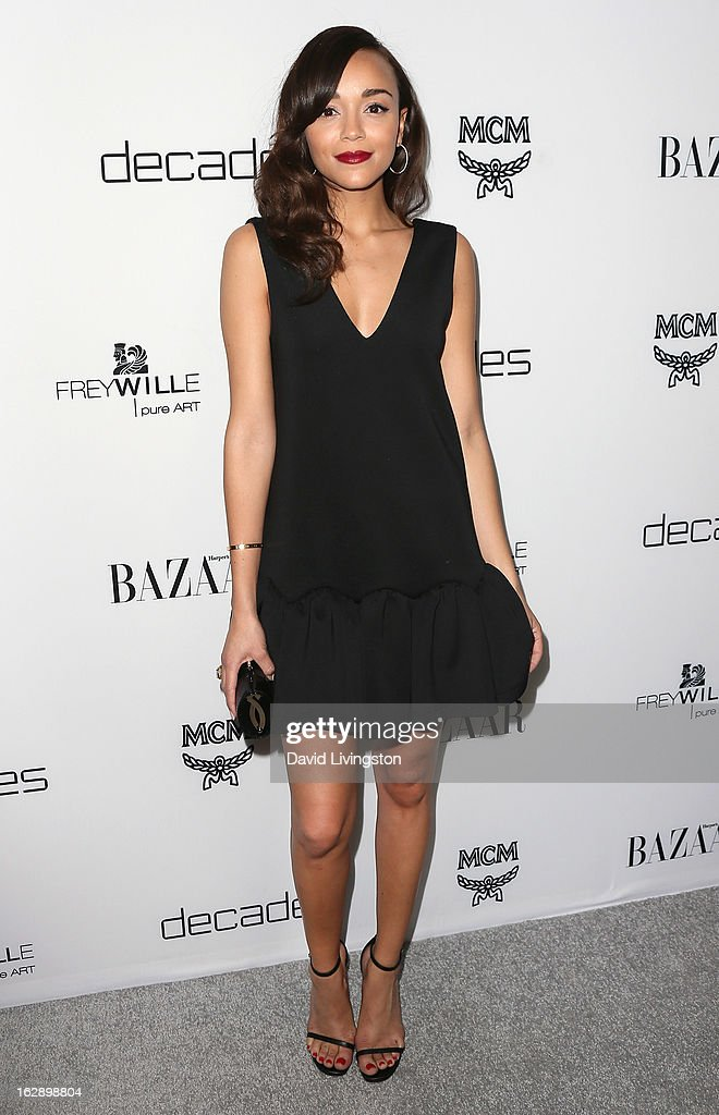 Actress Ashley Madekwe attends the Harper's BAZAAR celebration of Cameron Silver and Christos Garkinos of Decades new Bravo series 'Dukes of Melrose' at The Terrace at Sunset Tower on February 28, 2013 in West Hollywood, California.