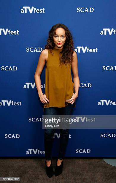 Actress Ashley Madekwe attends the 'Salem' press junket during aTVfest presented by SCAD on February 6 2015 in Atlanta Georgia