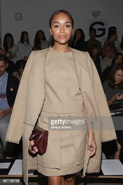 Actress Ashley Madekwe attends the Wes Gordon fashion show during Spring 2016 MADE Fashion Week at Milk Studios on September 11 2015 in New York City