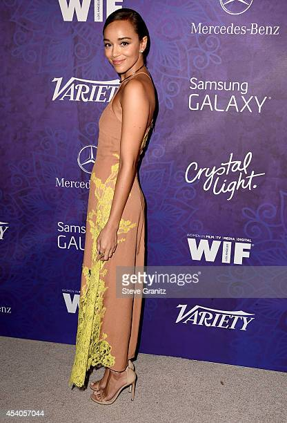 Actress Ashley Madekwe attends Variety and Women in Film Annual PreEmmy Celebration at Gracias Madre on August 23 2014 in West Hollywood California