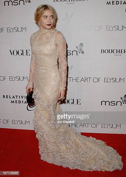 Actress Ashley Olsen arrives at The Art of Elysium's 3rd Annual BlackTie Charity Gala Heaven at 9900 Wilshire Blvd on January 16 2010 in Beverly...