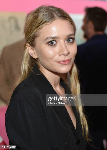 Actress Ashley Olsen attends Diane Von Furstenberg's Journey of A Dress Exhibition Opening Celebration at May Company Building at LACMA West on...