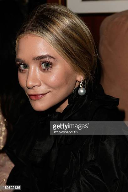 Actress Ashley Olsen attends the 2013 Vanity Fair Oscar Party hosted by Graydon Carter at Sunset Tower on February 24, 2013 in West Hollywood,...