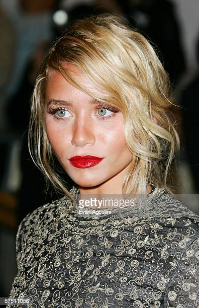 Actress Ashley Olsen attends the Metropolitan Museum of Art Costume Institute Benefit Gala Anglomania at the Metropolitan Museum of Art May 1 2006 in...