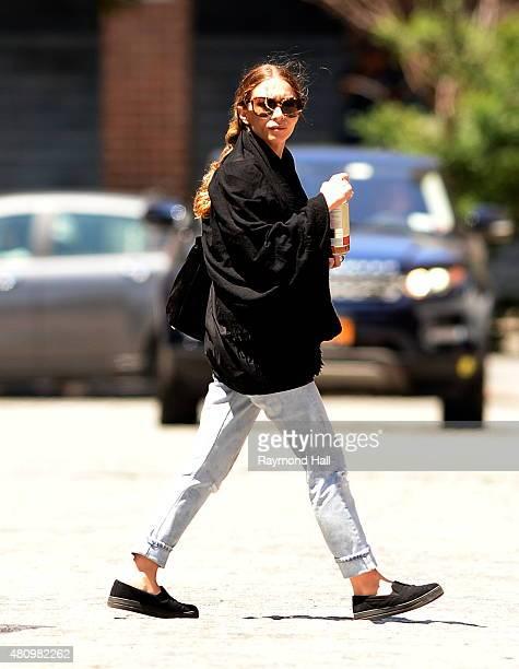 Actress Ashley Olsen is seen walking in Soho on July 16 2015 in New York City