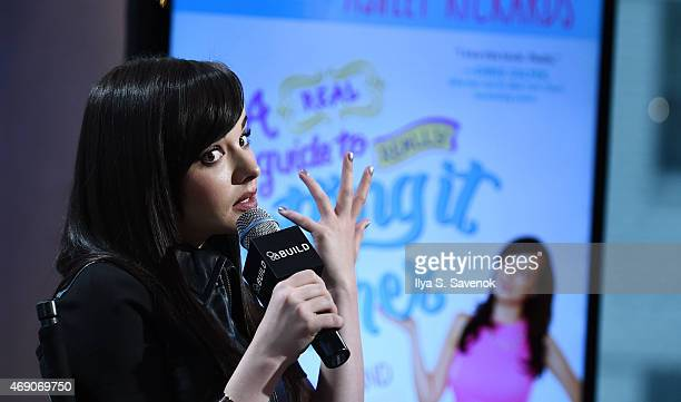 Actress Ashley Rickards attends the AOL BUILD Speaker Series to discuss her new book 'A Guide To Really Getting It Together' at AOL Studios on April...