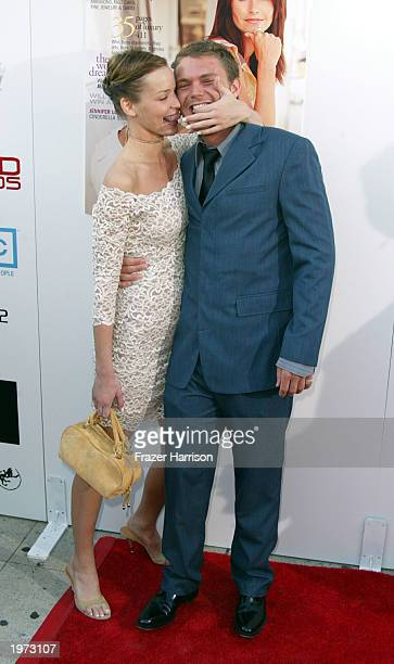 Actress Ashley Scott and actor Clayne Crawford arrive at the AMC and Movieline's Hollywood Life Magazine presents the Young Hollywood Awards held at...