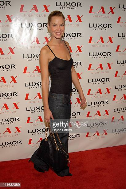 Actress Ashley Scott arrives at the Christina Aguilera at LAX Nightclub at Luxor Hotel and Casino on August 8 2007 in Las Vegas Nevada