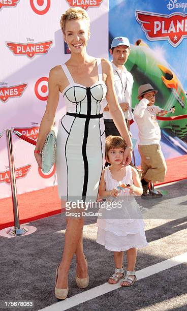 Actress Ashley Scott arrives at the Los Angeles premiere of 'Planes' at the El Capitan Theatre on August 5 2013 in Hollywood California