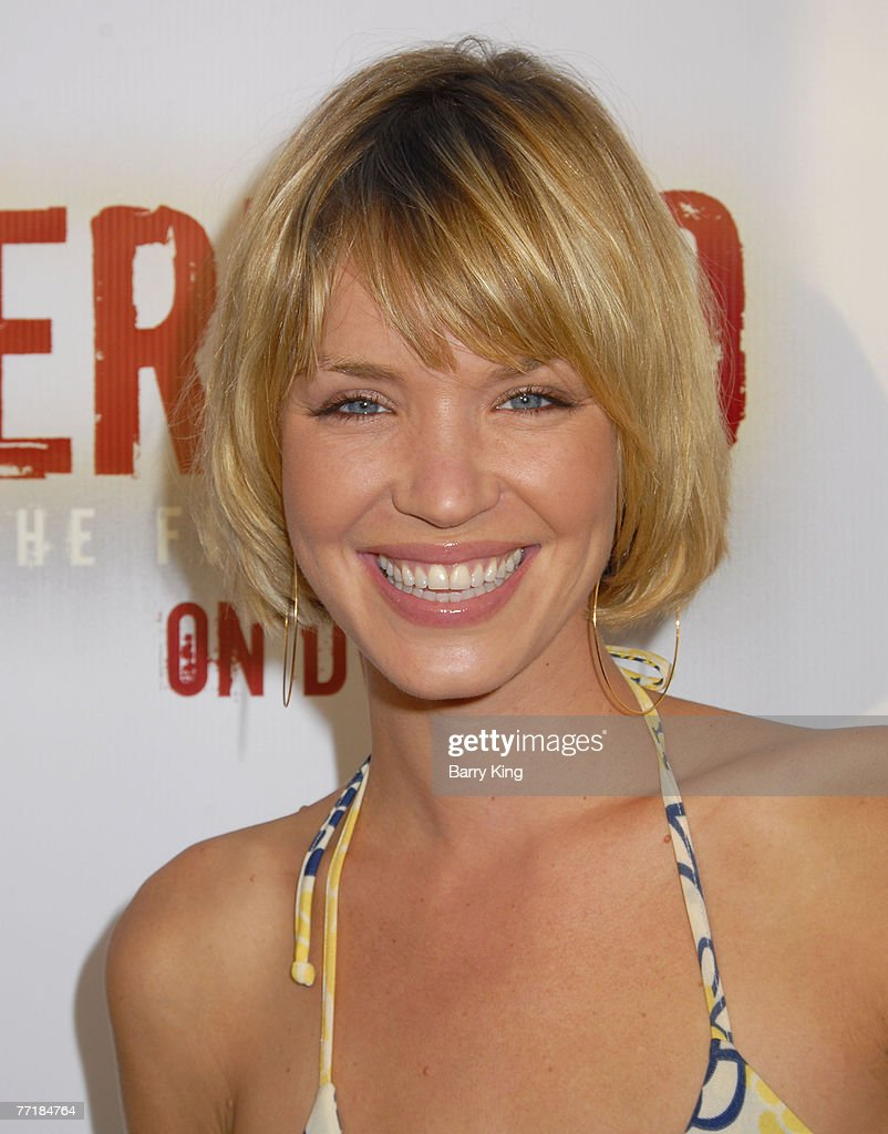 Actress Ashley Scott attends the 'Jericho' First Season DVD launch party held at Crimson Hollywood on October 2, 2007 in Hollywood, California.