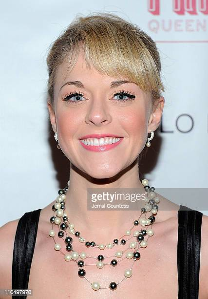 Actress Ashley Spencer attends the after party for the Broadway opening night of Priscilla Queen of the Desert The Musical at Pier 60 on March 20...