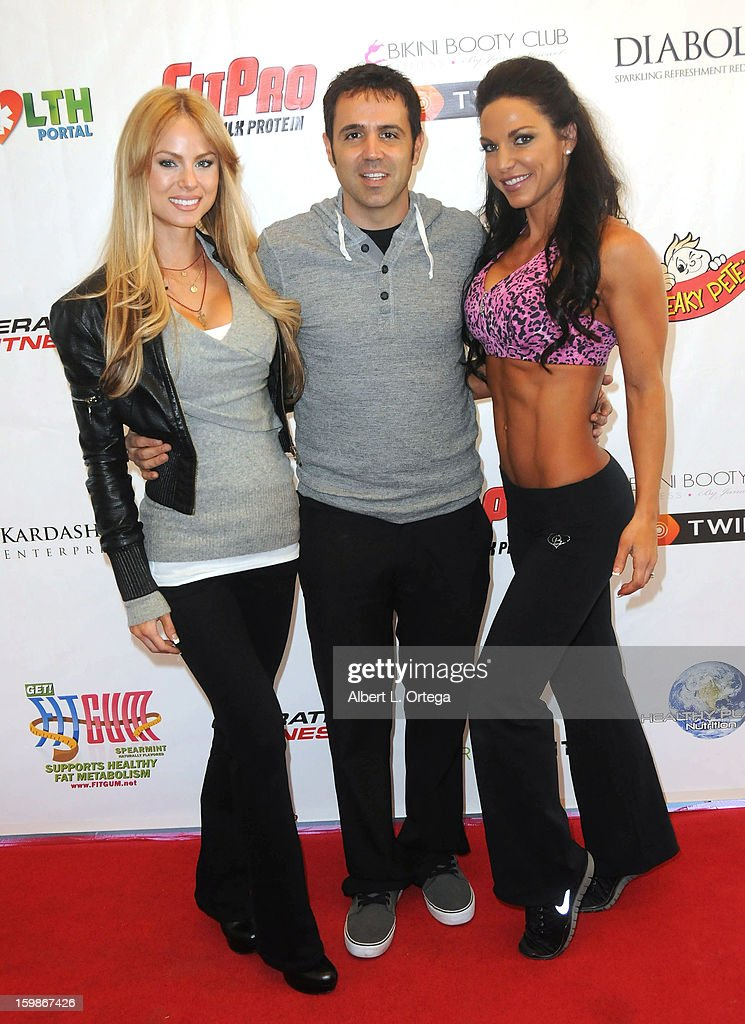 Actress Ashley Thomas, actor Blake Freeman and fitness model Mandy White participate in the Red Carpet Health Expo held at The Vitamin Shoppe on January 12, 2013 in Los Angeles, California.