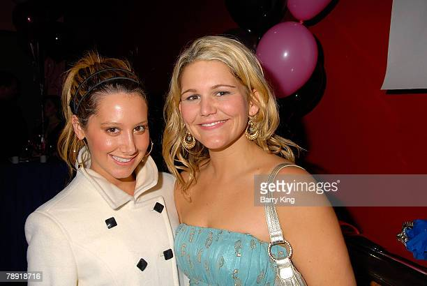 LOS ANGELES CA JANUARY 11 Actress Ashley Tisdale and actress Annie Hendy attend Venice Magazine's after party for The Catholic Girl's Guide to Losing...
