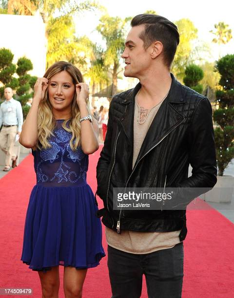 Actress Ashley Tisdale and Christopher French attend the Hub Network's 2013 Television Critics Association summer press tour event at The Globe...