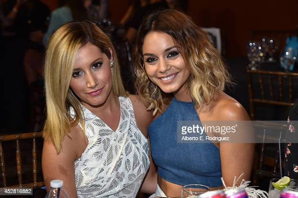 Actress Ashley Tisdale and honoree Vanessa Hudgens in the audience at the 2014 Young Hollywood Awards brought to you by Samsung Galaxy at The Wiltern...