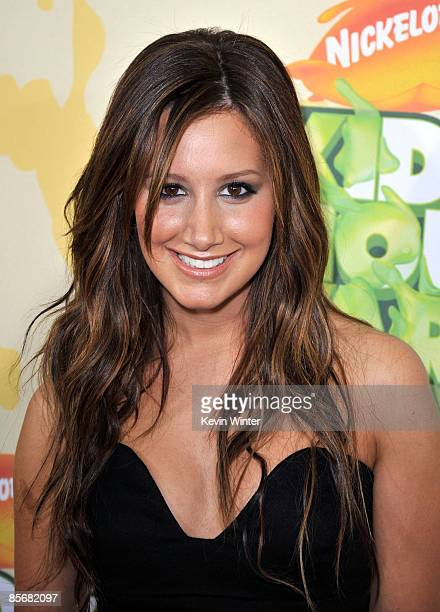 Actress Ashley Tisdale arrives at Nickelodeon's 2009 Kids' Choice Awards at UCLA's Pauley Pavilion on March 28 2009 in Westwood California
