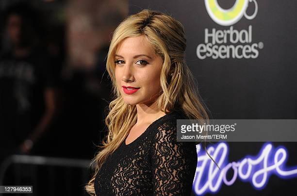 Actress Ashley Tisdale arrives at Paramount Pictures' premiere of 'Footloose' held at the Regency Village Theatre on October 3 2011 in Los Angeles...