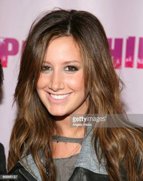 Actress Ashley Tisdale arrives at Perez Hilton's 'OMFB' 31st Birthday Party held at The Viper Room on March 28 2009 in West Hollywood California