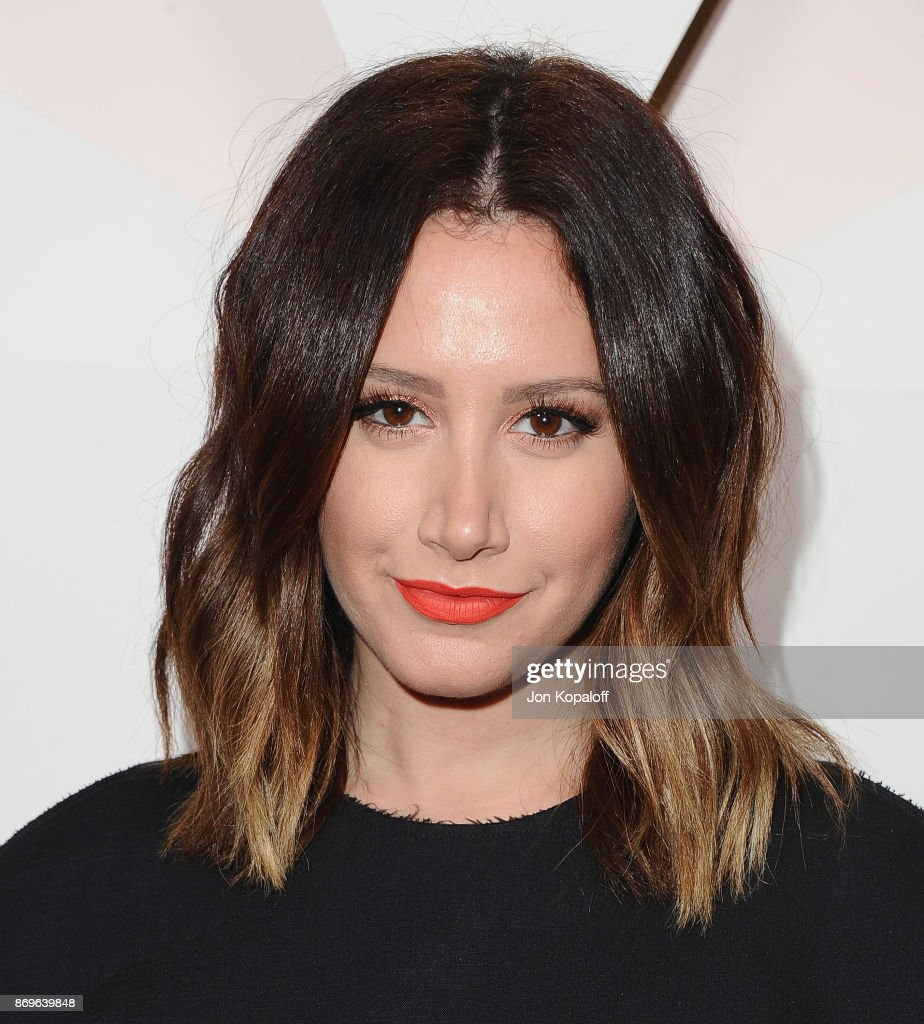 Actress Ashley Tisdale arrives at #REVOLVEawards at DREAM Hollywood on November 2, 2017 in Hollywood, California.