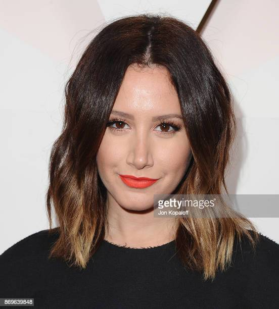 Actress Ashley Tisdale arrives at #REVOLVEawards at DREAM Hollywood on November 2 2017 in Hollywood California