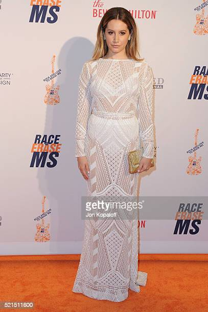 Actress Ashley Tisdale arrives at the 23rd Annual Race To Erase MS Gala at The Beverly Hilton Hotel on April 15 2016 in Beverly Hills California